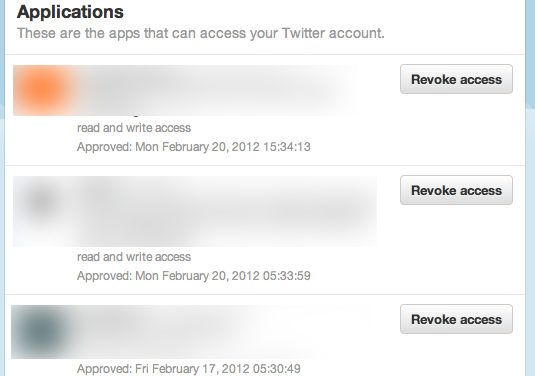 Secure your Twitter Account – Check your permission