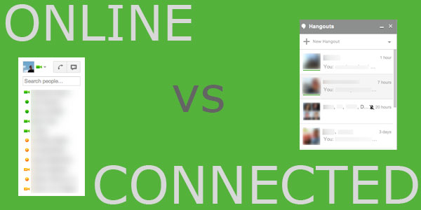 Google Hangouts: Online vs Connected