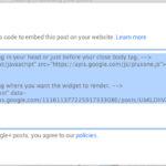 Google+ Posts embedded
