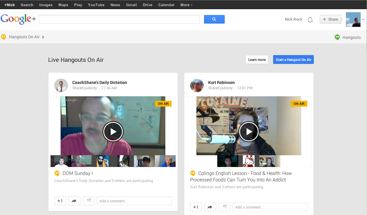 Hangouts On Air – Get's You Around the world